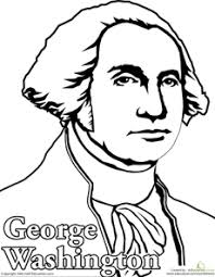 Small Picture Color George Washington Social studies Homeschool and School
