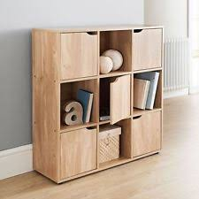 3/5 Door Oak 6/9 Cube Wooden Bookcase Storage Display Shelving Book Shelves