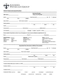 Fillable Online Fmolhs Patient Information Facesheet Fax