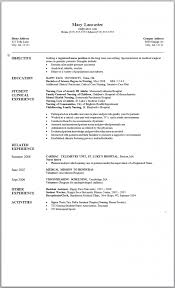 New Graduate Registered Nurse Resume