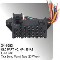 fuse box tata sumo deluxe single fuse box 25 wires hp 34 fuse box tata sumo maruti type 23 wires hp 34 3053