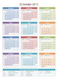 2019 Calendar Printable Template 2019 Calendar Printable Free Templates Printable Calendar 2019