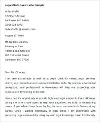 Sample Attorney Cover Letters 7 Legal Cover Letters Free Sample Example Format