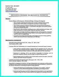 Mechanical Engineerme Template Entry Level Professional Cv
