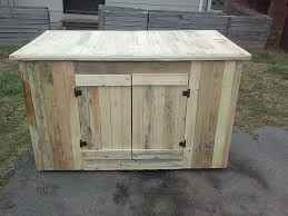 Pallet Kitchen Furniture Pallet Kitchen Island With Cabinets