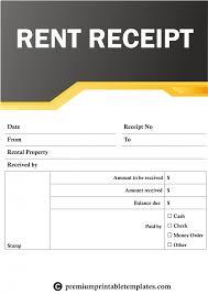 Cash Paid Receipt Template Unique Rent Receipt Templates