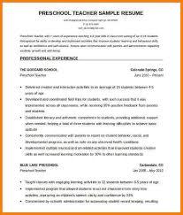 6 Teacher Resume Template Word Professional Resume List