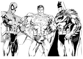 Small Picture Batman And Superman Coloring Pages For Print Super Heroes