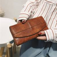 Trifold Wallet Women Long PU <b>Leather</b> Female Clutch Purse Hasp ...