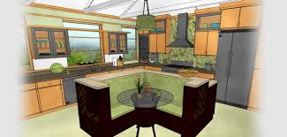 Kitchen And Bath Design Software Technical Drawing Of A Kitchen Generated By Home Designer