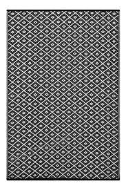 green decore lightweight outdoor reversible plastic rug arabian nights 6 x 9 black white