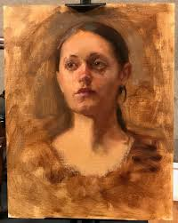 oil painting sketch by richard piloco the first prize winner of the oil portrait sketching