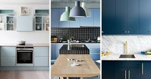 here are 12 examples of modern blue kitchens all along the blue spectrum that range from