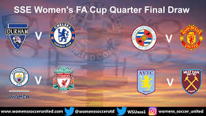 It is sponsored by emirates and known as the emirates fa cup for sponsorship purposes. Today S Sse Women S Fa Cup Quarter Final Draw Fixtures Womens Soccer United