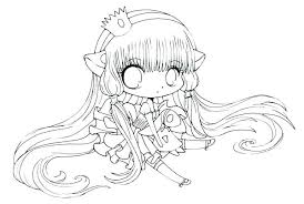 Anime Colouring Pages Girl Cute Coloring Pages For Girls Anime