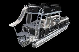 2018 tahoe cascade platinum funship pontoon boat with water slide rear studio photo