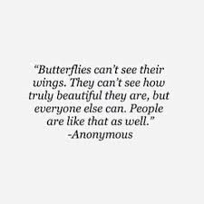 Butterfly Beauty Quotes Best of Butterflies Can't See Their Wings They Can't See How Truly