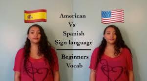 American Vs Spanish Sign Language Beginners Vocab