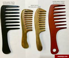 wide tooth detangling comb benefits gently remove shedding knots and tangles from