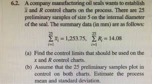 Solved A Company Manufacturing Oil Seals Wants To Establi