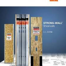simpson strong tie strongwall catalog c