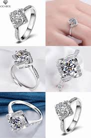 Square Shape Ring Design Pin On Wedding Engagement Jewelry