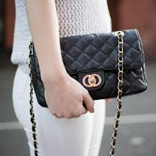 Rita Black Quilted Bag with Gold Chain Strap | Beehola & Rita Black Quilted Bag with Gold Chain Strap Blogger2 Adamdwight.com