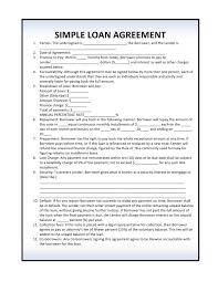 Simple Loan Agreement Templates Words Loans For Poor Credit