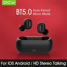 <b>QCY T1C Mini</b> Dual BT 5.0 Earbuds True Wireless Music ...