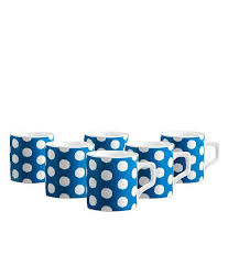Clay Craft Blue Lina Hilton Coffee Mug Set: Buy Online at Best ...