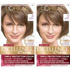 Loreal Light Brown Details About Set Of 2 Loreal Paris Excellence Creme Triple Protection Hair Color 6 Light Brow