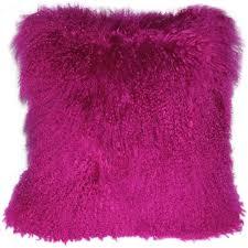 mongolian sheepskin hot magenta pink