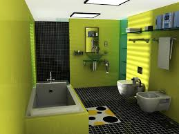 Bathroom: Simple Bathroom Design With Green Wall Paint Color Also ...