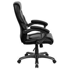 Flash Furniture Go 724h Bk Lea Gg High Back Black Leather