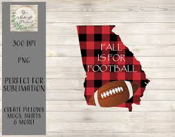 Fall Sublimation Designs Fall Is For Football Georgia Football Design Sublimation