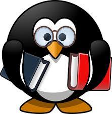tux bird book books bookworm educat