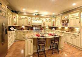 antique white kitchen cabinets with granite countertops off black granit