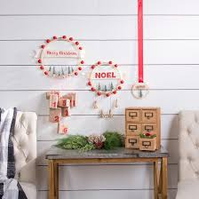 diy holiday advent embroidery hoop decor