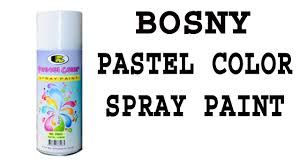 Bosny Spray Paint Color Chart Bosny Ph Pastel Color