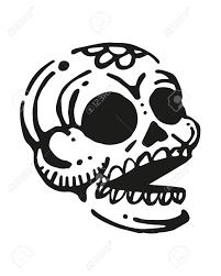 手描きイラストや頭蓋骨の図面