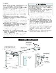 garage door installation instructions craftsman 1 2 hp garage door opener manual sears chamberlain whisper drive