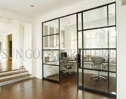 hot home partition modern office sliding glass door divider sz ws635