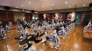 indoor cycle studio at life time fitness