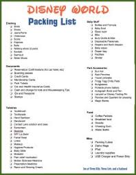 Packing Check List Disney World Packing List With Free Printable Checklist