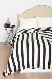 black and white striped geomteric duvet cover view full size
