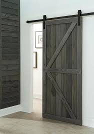 byp barn door hardware kit we created our own using weathered planks and a sliding barn byp barn door