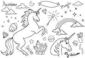 Disegni Di Unicorni Facili Migliori Pagine Da Colorare