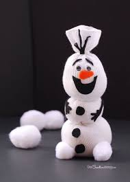 Olaf <b>Sock Snowman</b> Tutorial | Disney frozen crafts, <b>Sock</b> crafts ...