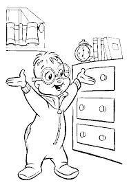 Kleurplaat Alvin En De Chipmunks Simon Coloring Pages Printable