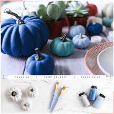 pumpkins always hold a special place in fall s heart if you are looking to steer away from the classic orange colors chalk paint is great for giving your